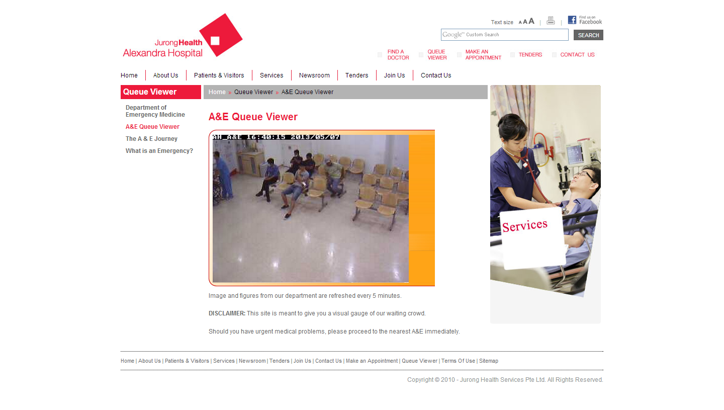 Jurong Health Services Intranet Portal Image 1