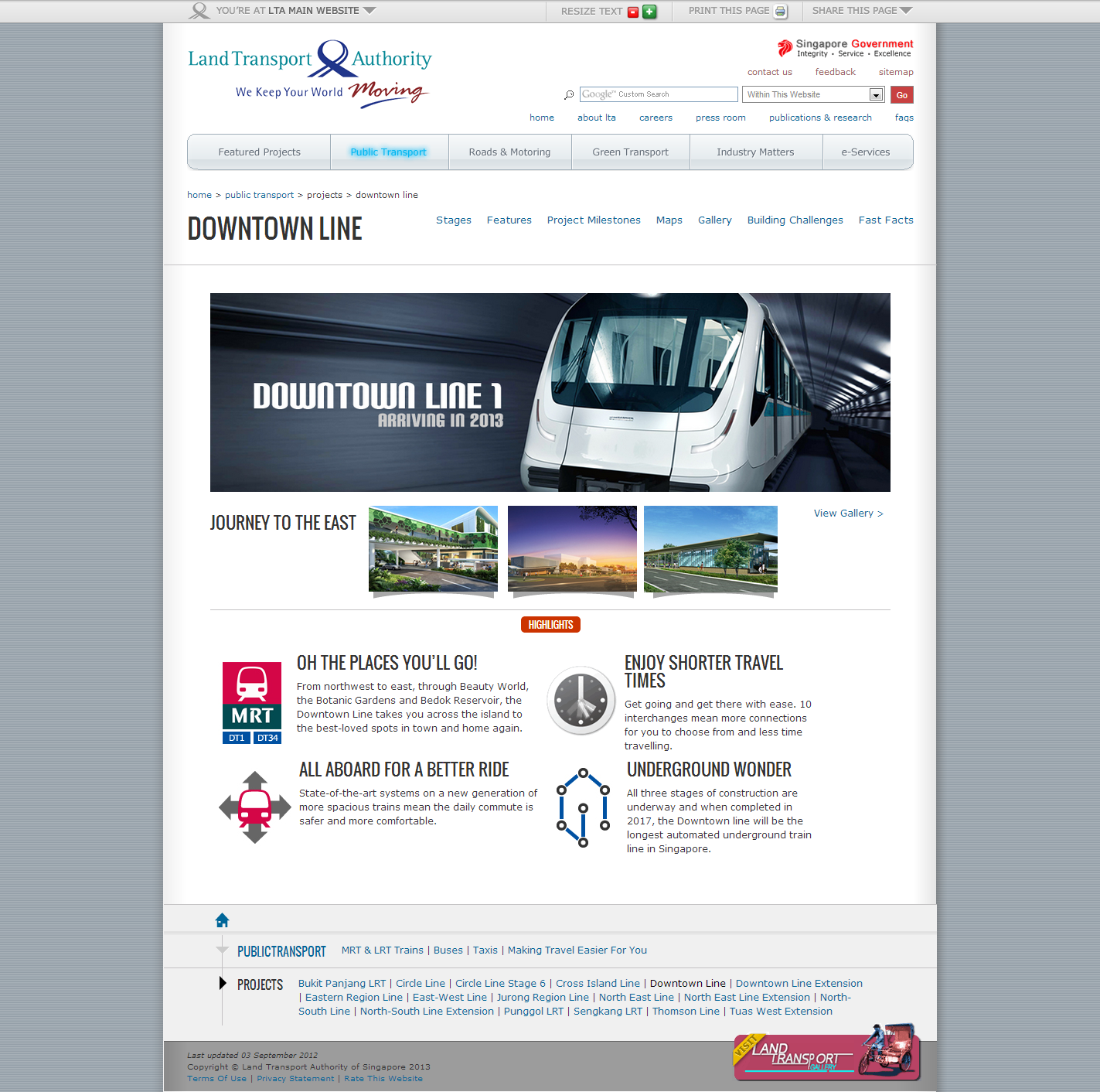 Land Transport Authority Corporate Website Image 1
