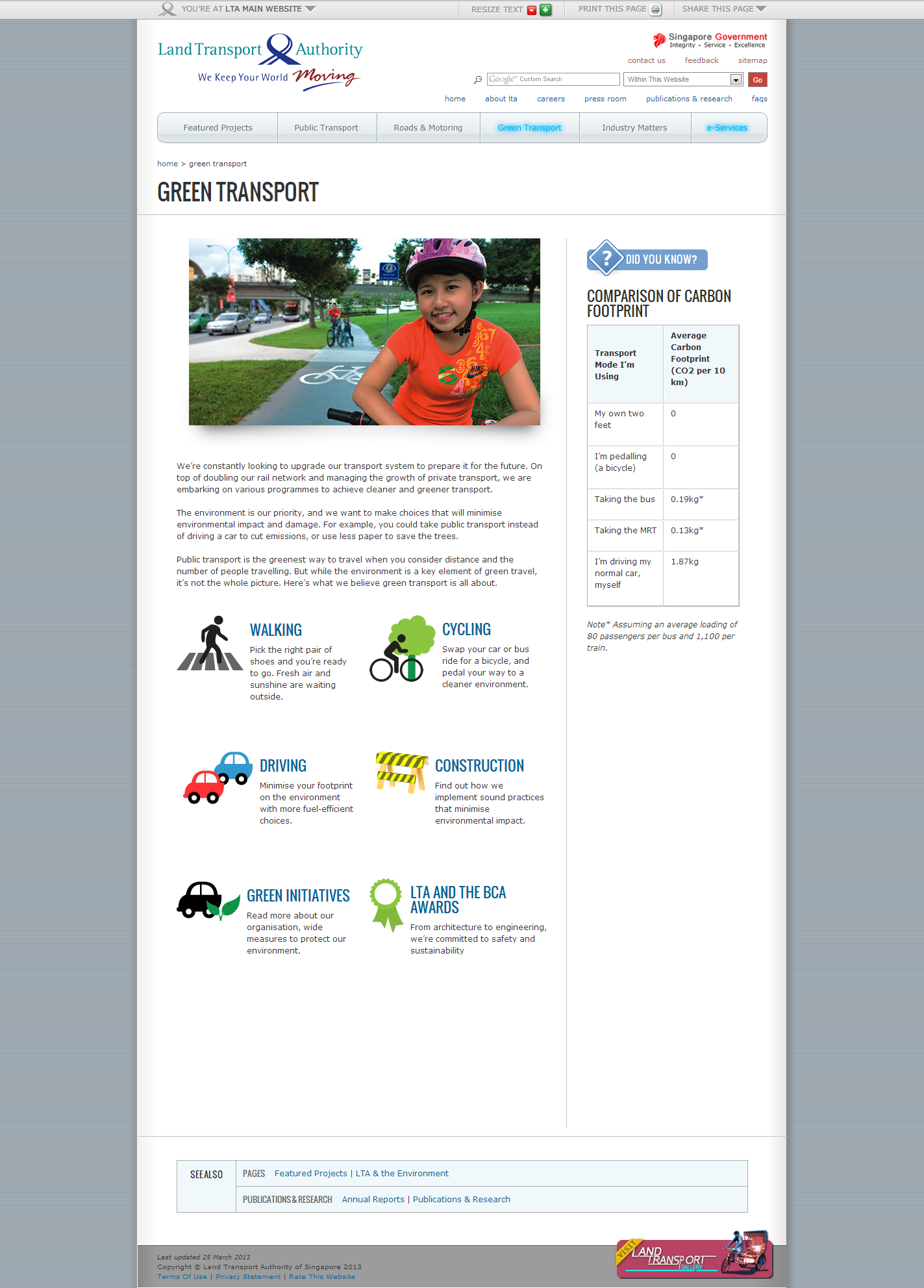 Land Transport Authority Corporate Website Image 3
