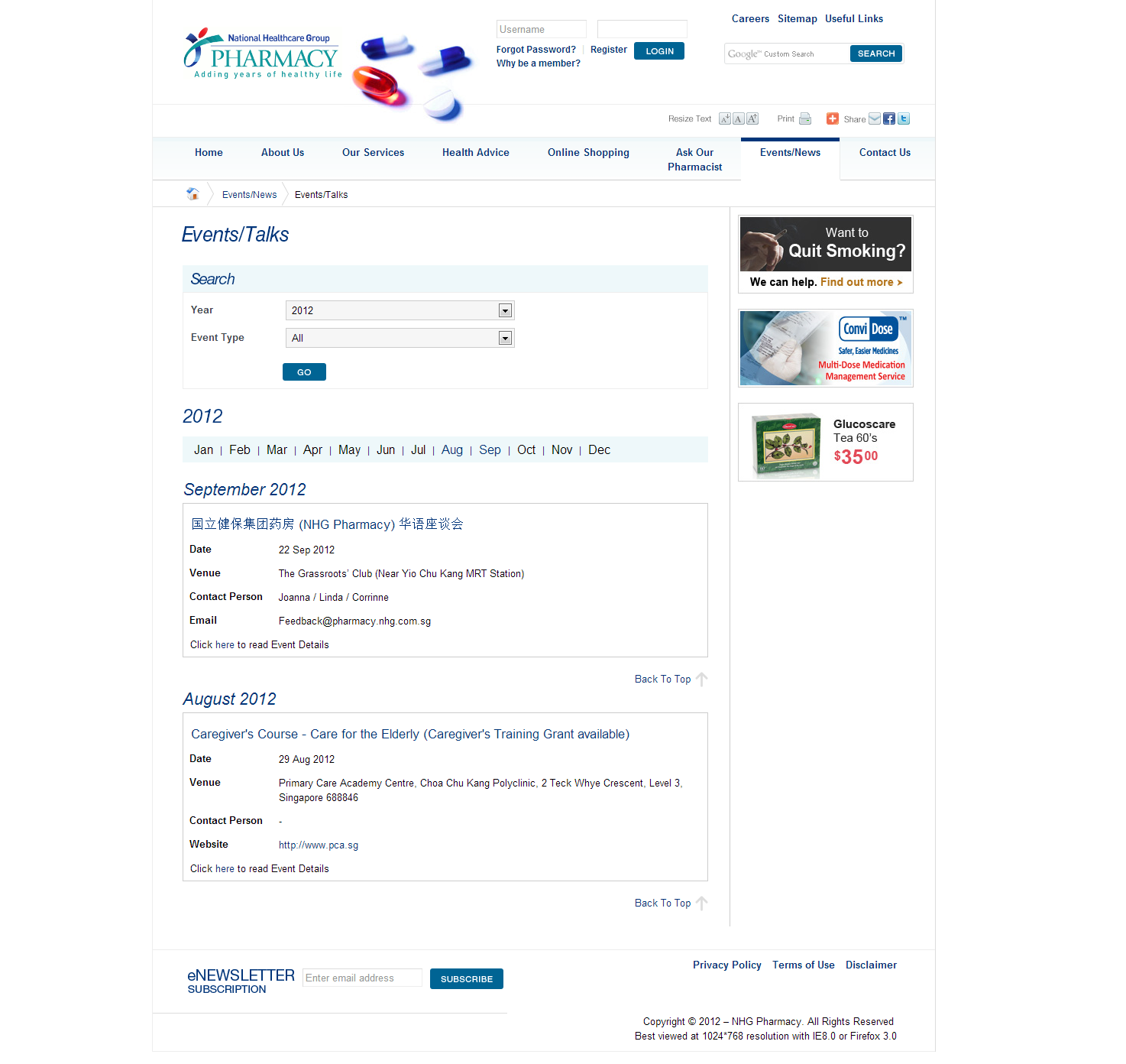 NHG Pharmacy Corporate and Ecommerce Portal Image 2