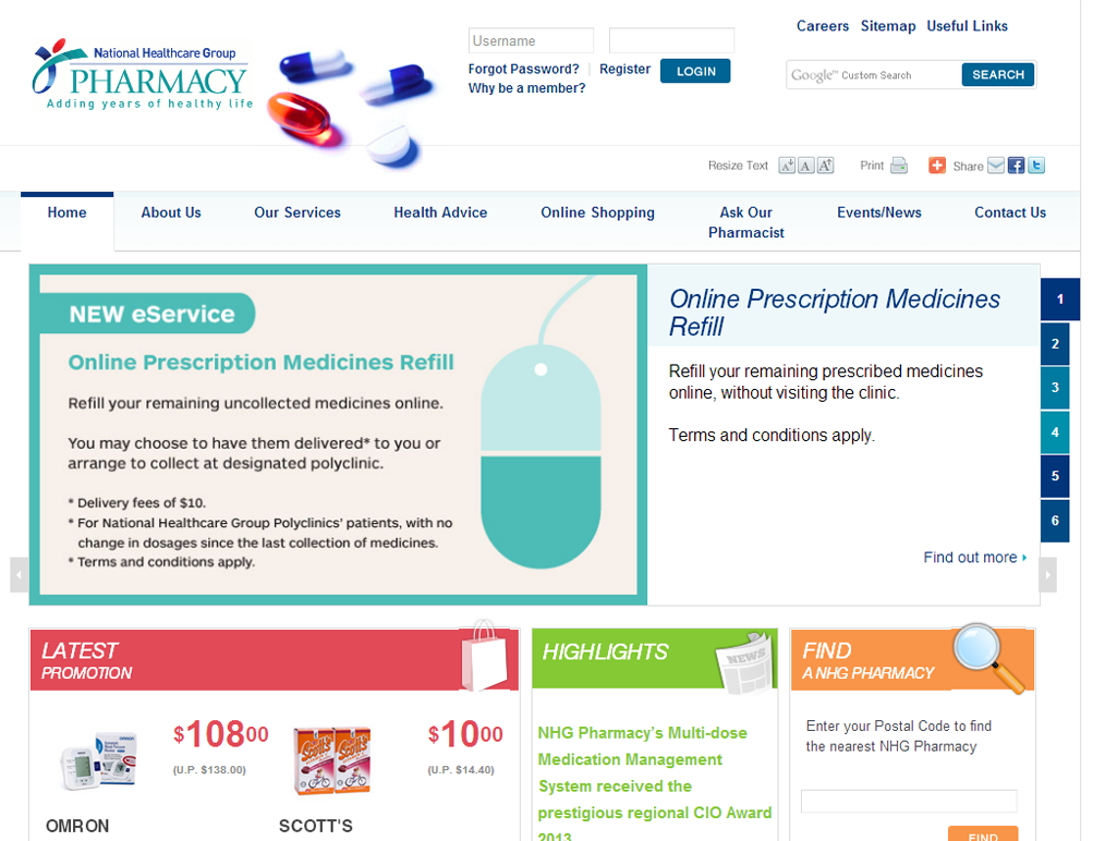 NHG Pharmacy Corporate and Ecommerce Portal Image 3
