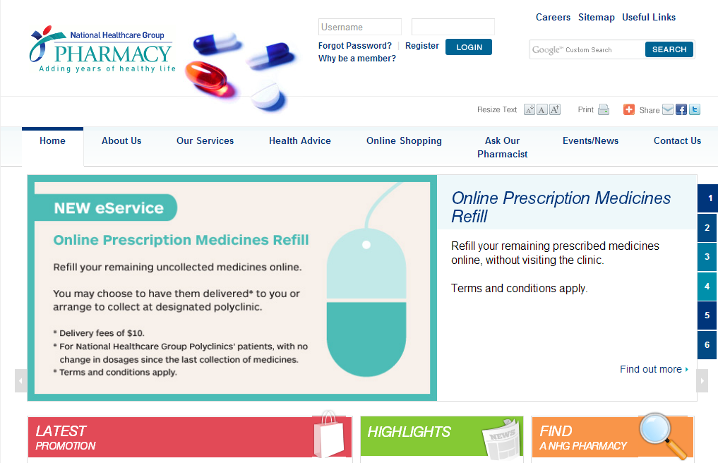 NHG Pharmacy Corporate and Ecommerce Portal Image 4