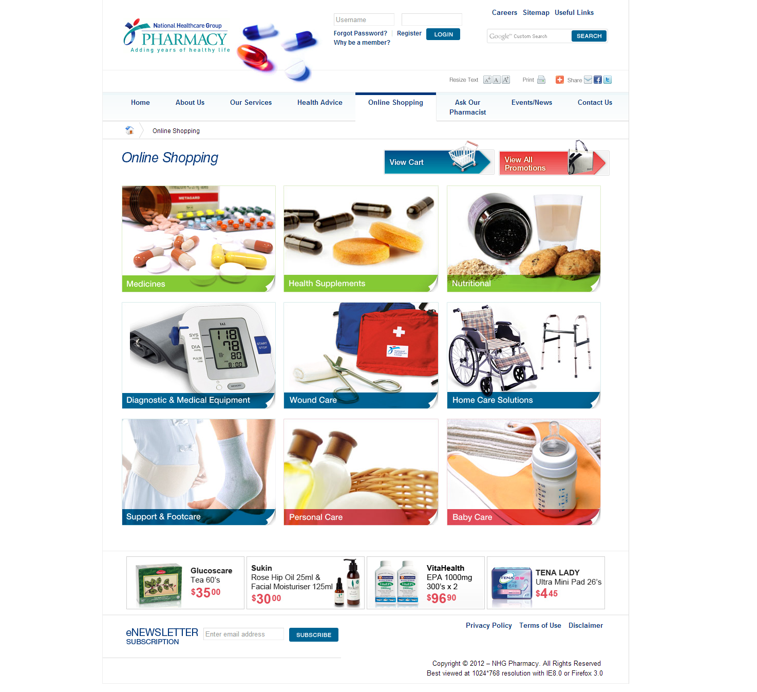 NHG Pharmacy Corporate and Ecommerce Portal Image 5