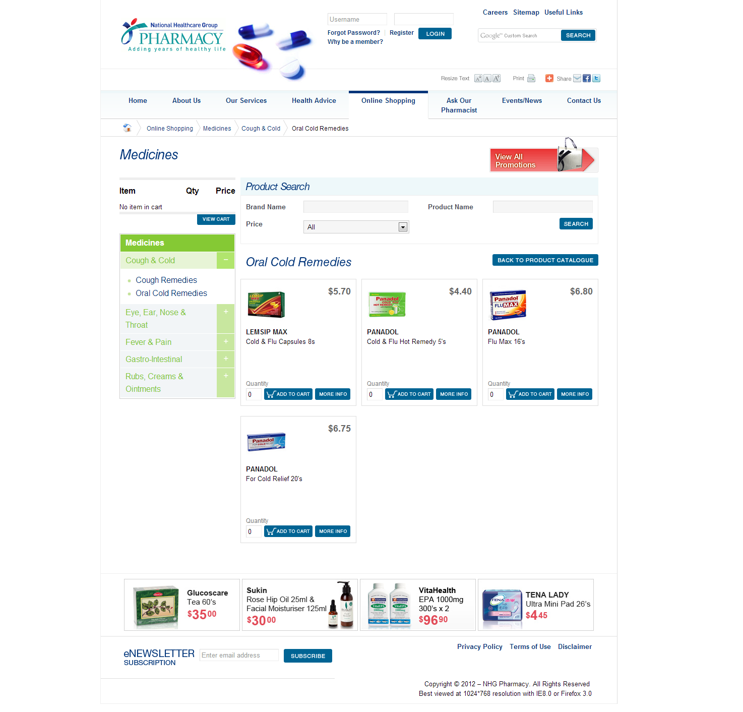 NHG Pharmacy Corporate and Ecommerce Portal Image 6