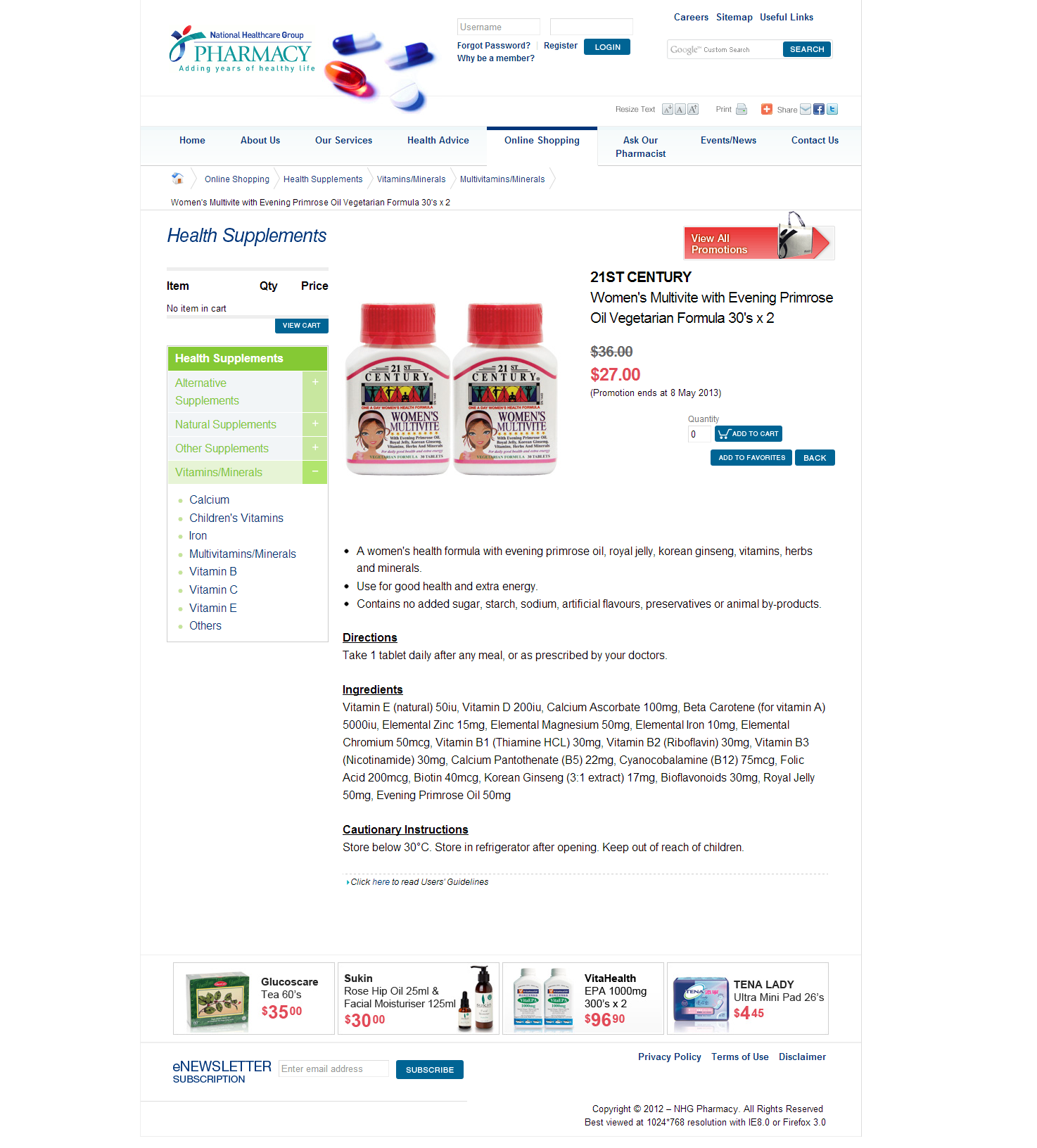 NHG Pharmacy Corporate and Ecommerce Portal Image 9