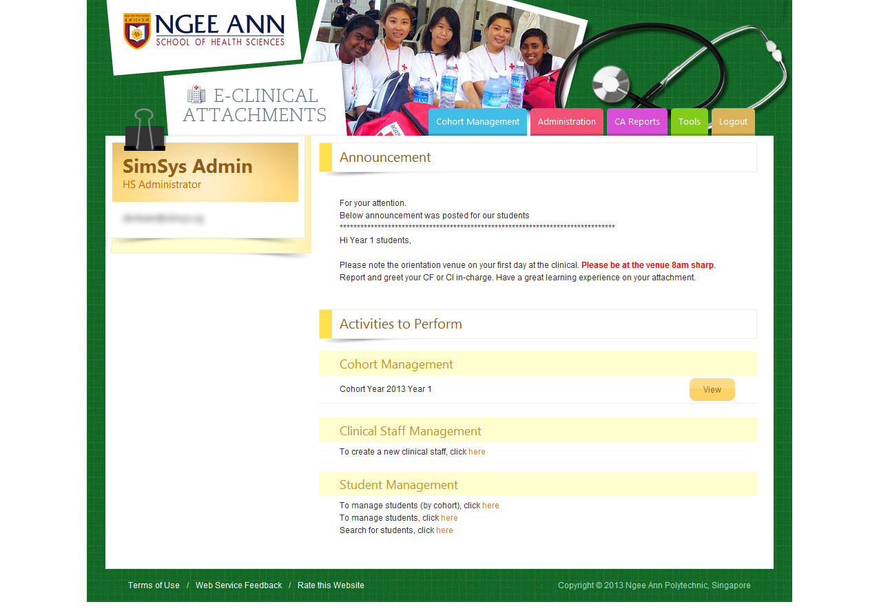 Ngee Ann Polytechnic - Clinical Posting Management System Image 7