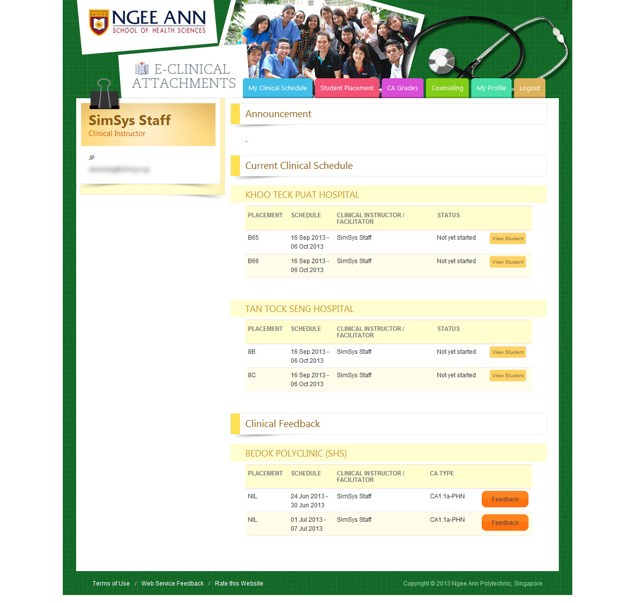 Ngee Ann Polytechnic - Clinical Posting Management System Image 8