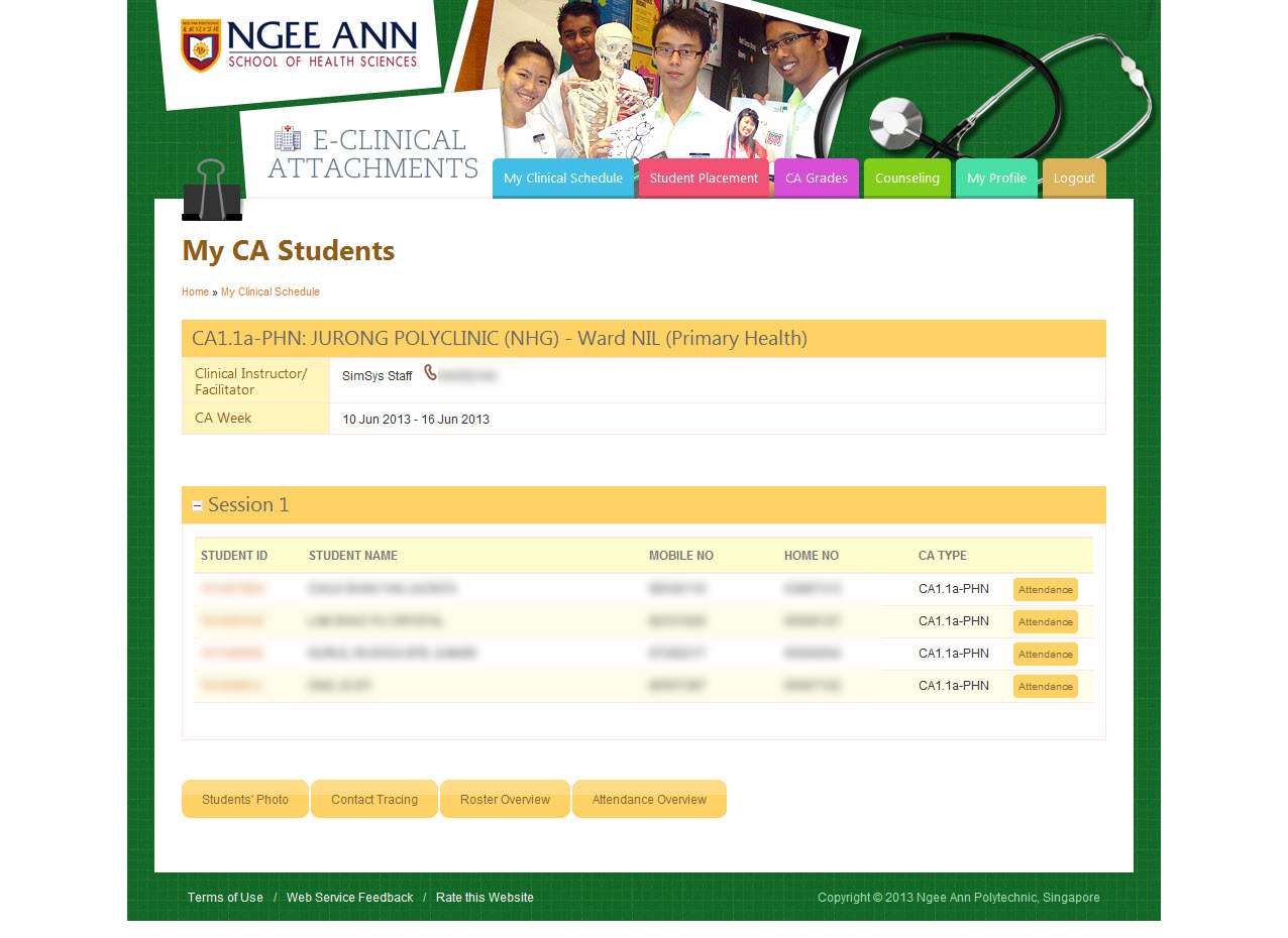 Ngee Ann Polytechnic - Clinical Posting Management System Image 9