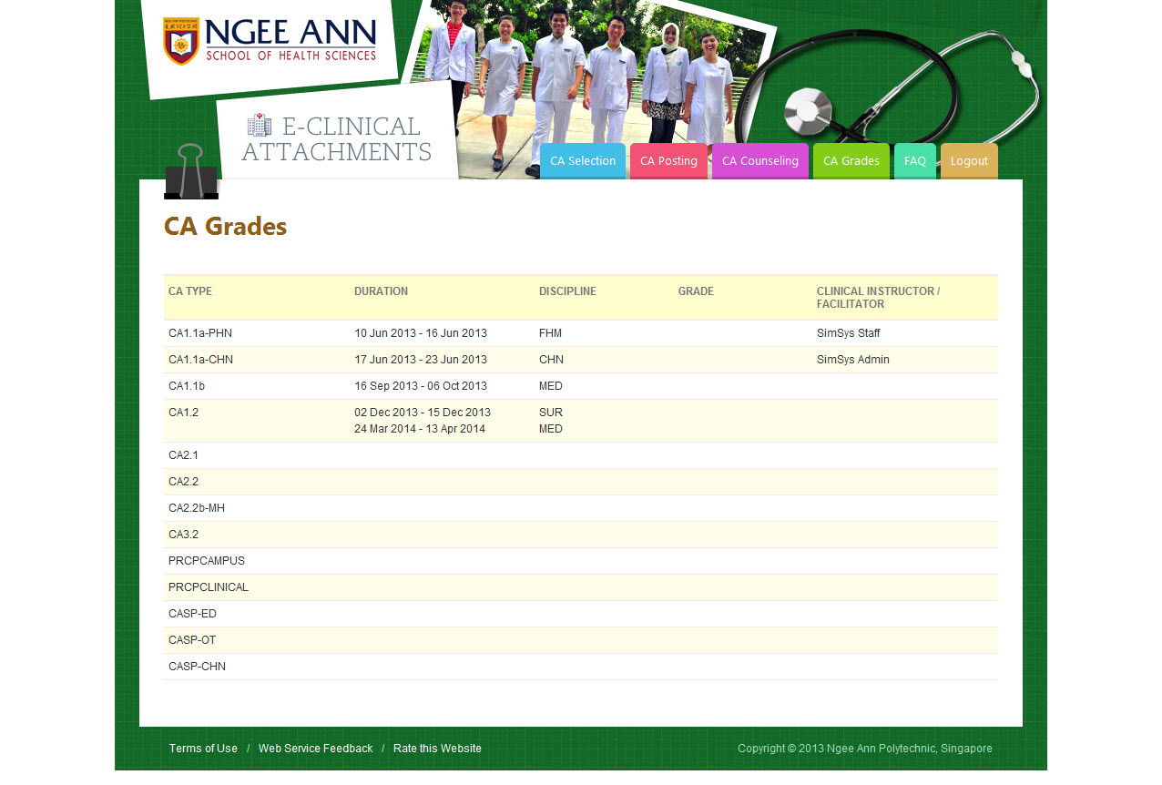 Ngee Ann Polytechnic - Clinical Posting Management System Image 12