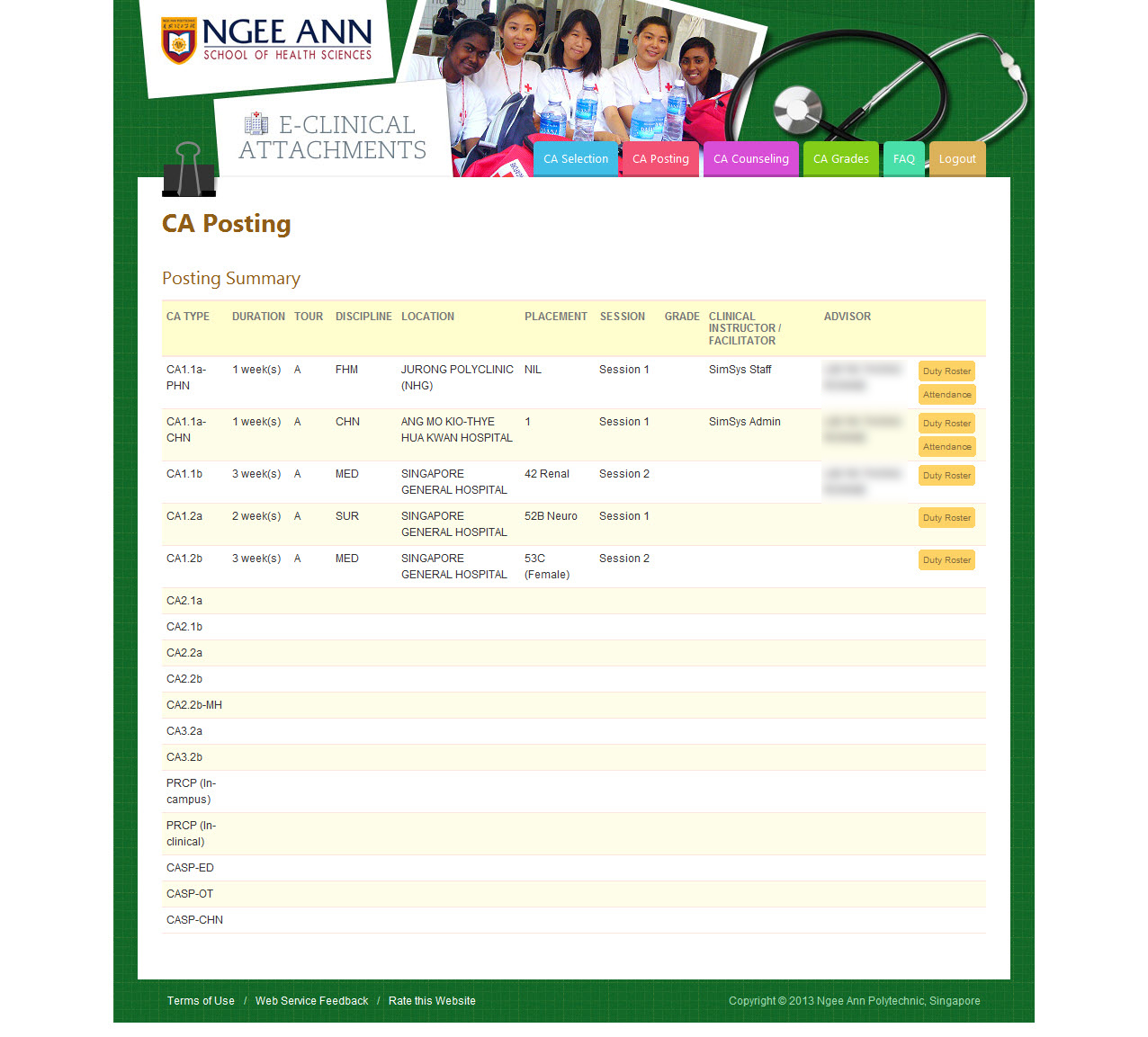 Ngee Ann Polytechnic - Clinical Posting Management System Image 13