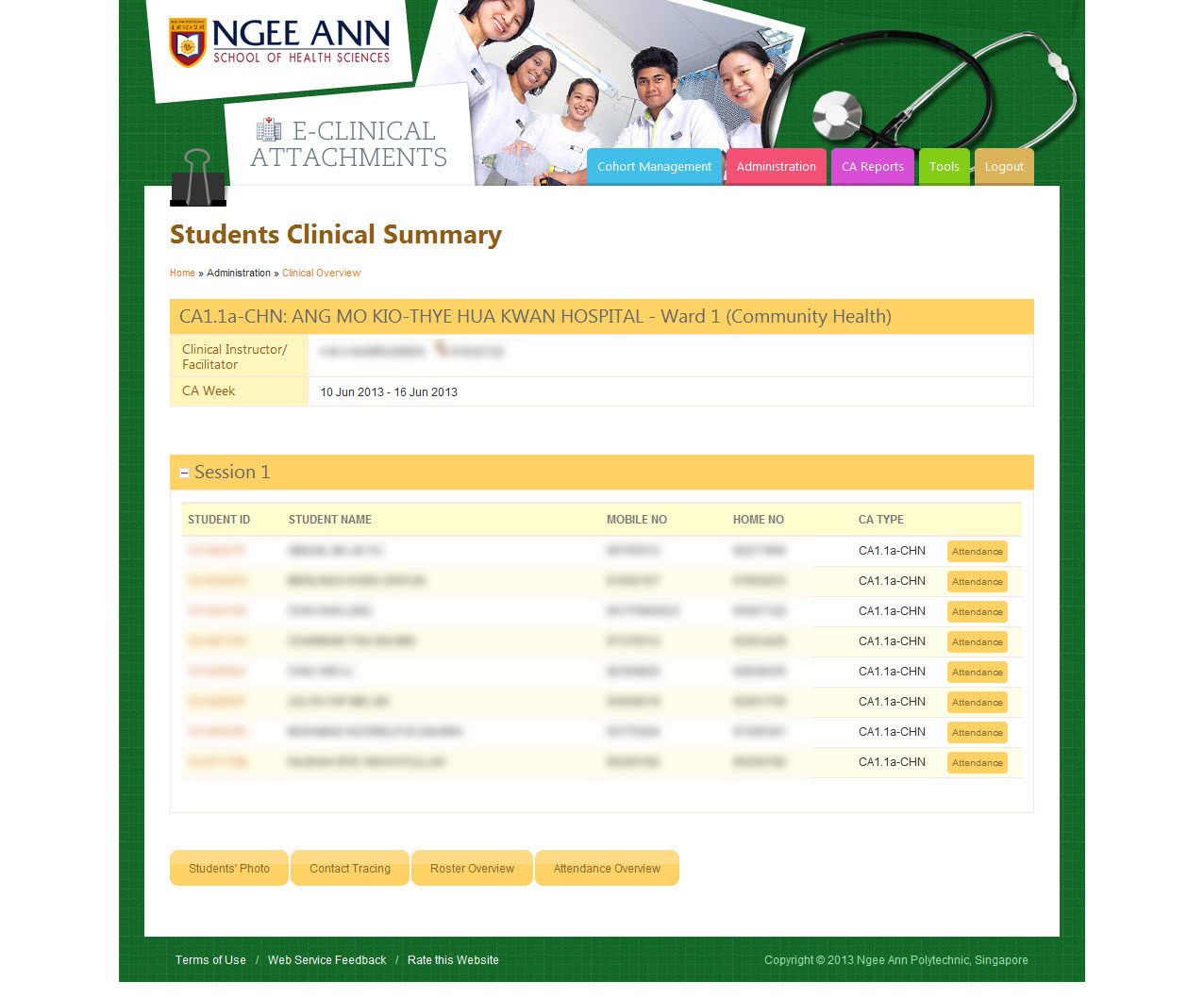 Ngee Ann Polytechnic - Clinical Posting Management System Image 14