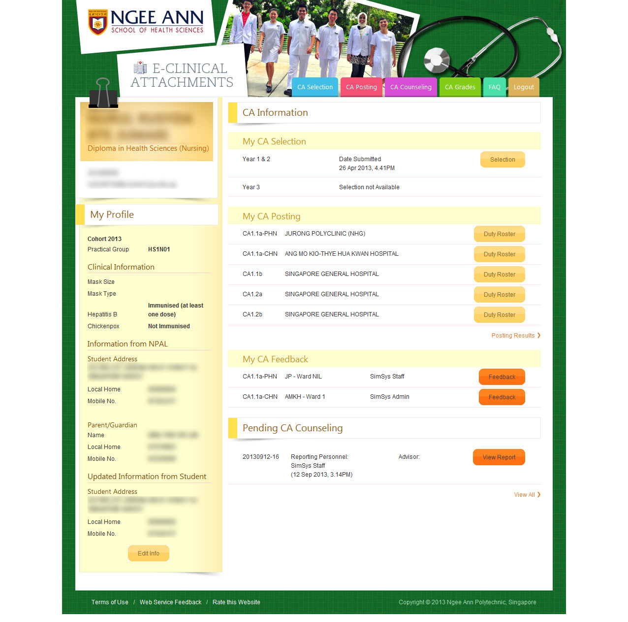 Ngee Ann Polytechnic - Clinical Posting Management System Image 18