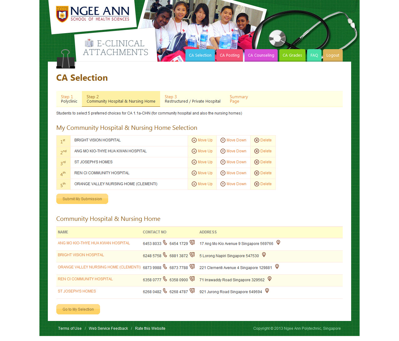 Ngee Ann Polytechnic - Clinical Posting Management System Image 21