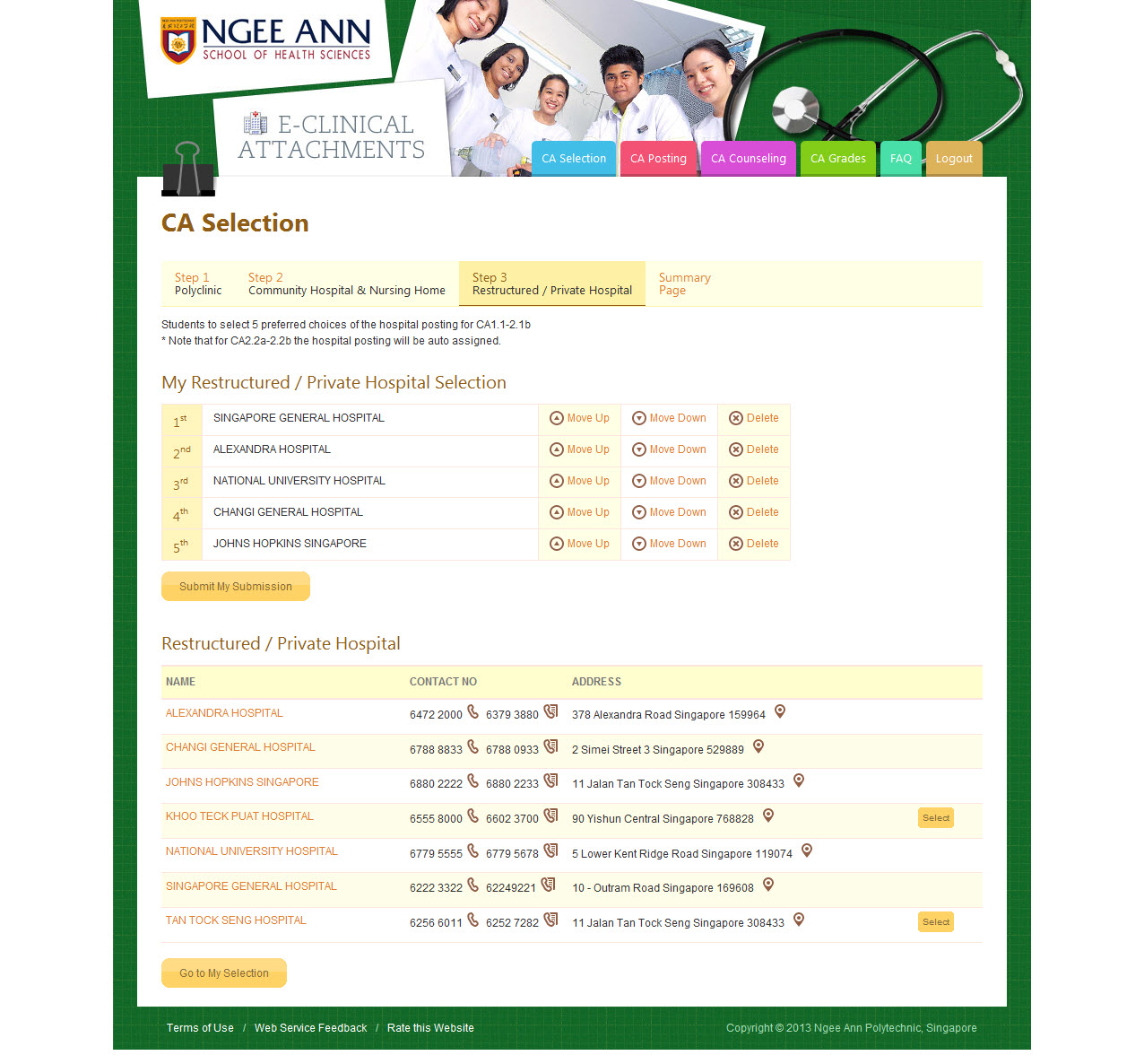 Ngee Ann Polytechnic - Clinical Posting Management System Image 22