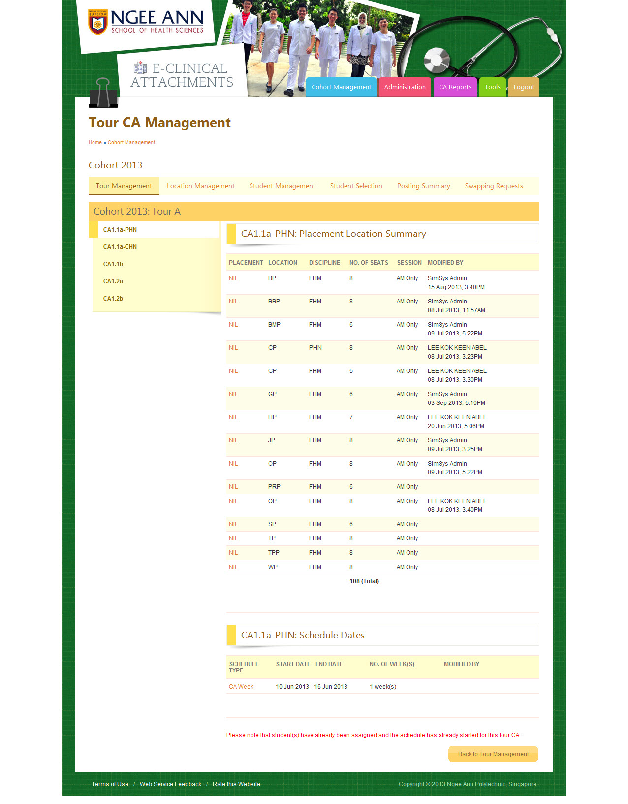 Ngee Ann Polytechnic - Clinical Posting Management System Image 24