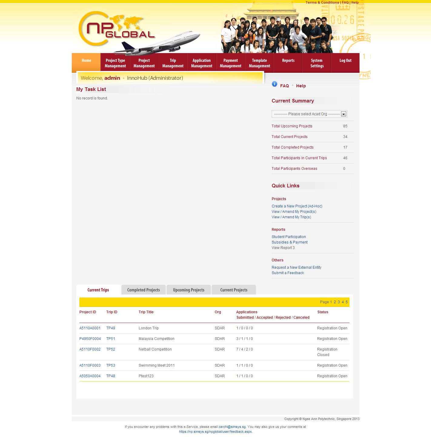 Ngee Ann Polytechnic - Overseas Student Project Portal Image 1