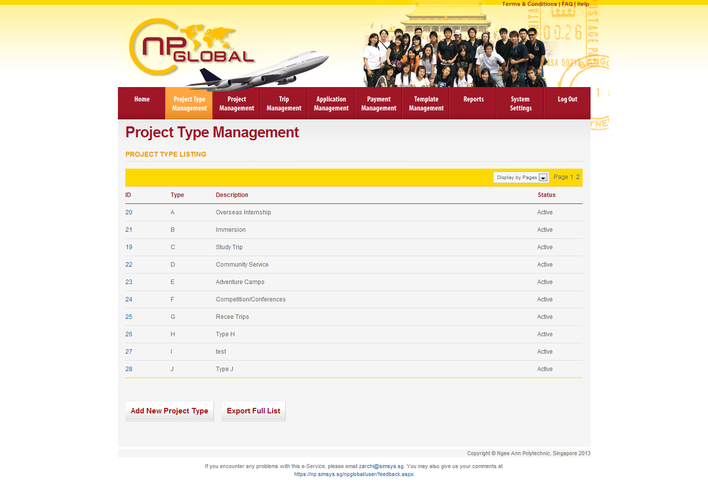 Ngee Ann Polytechnic - Overseas Student Project Portal Image 2
