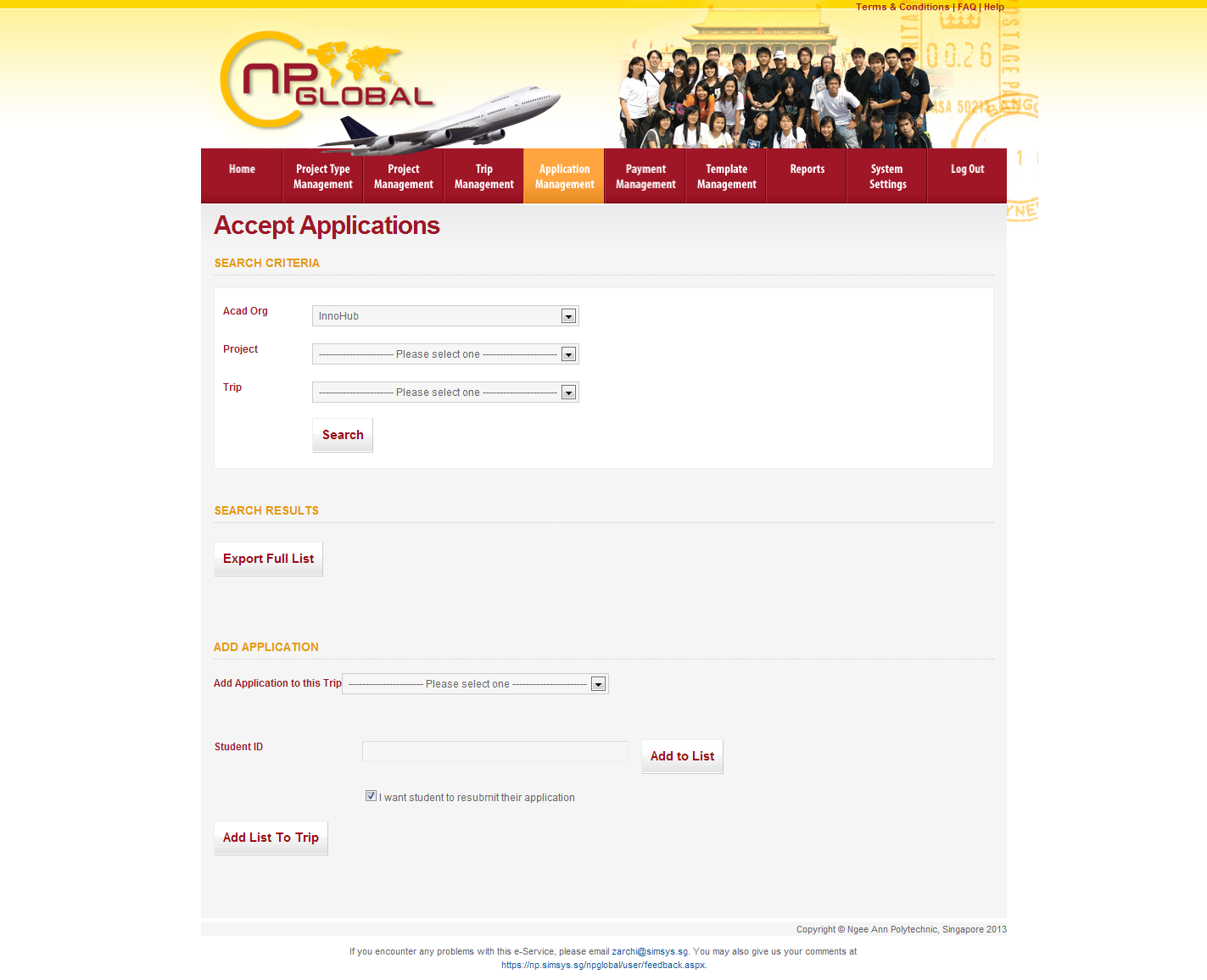 Ngee Ann Polytechnic - Overseas Student Project Portal Image 3