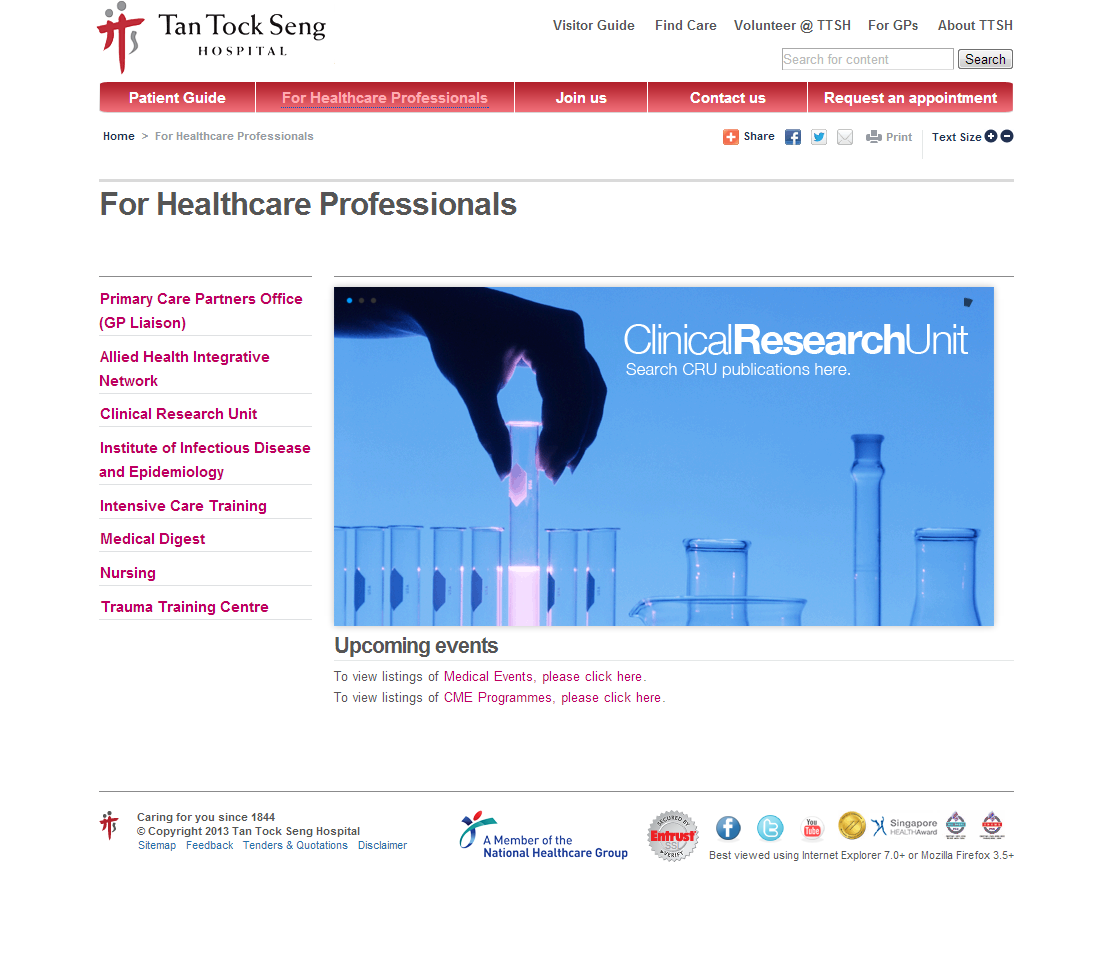 Tan Tock Seng Hospital Corporate Website Image 3