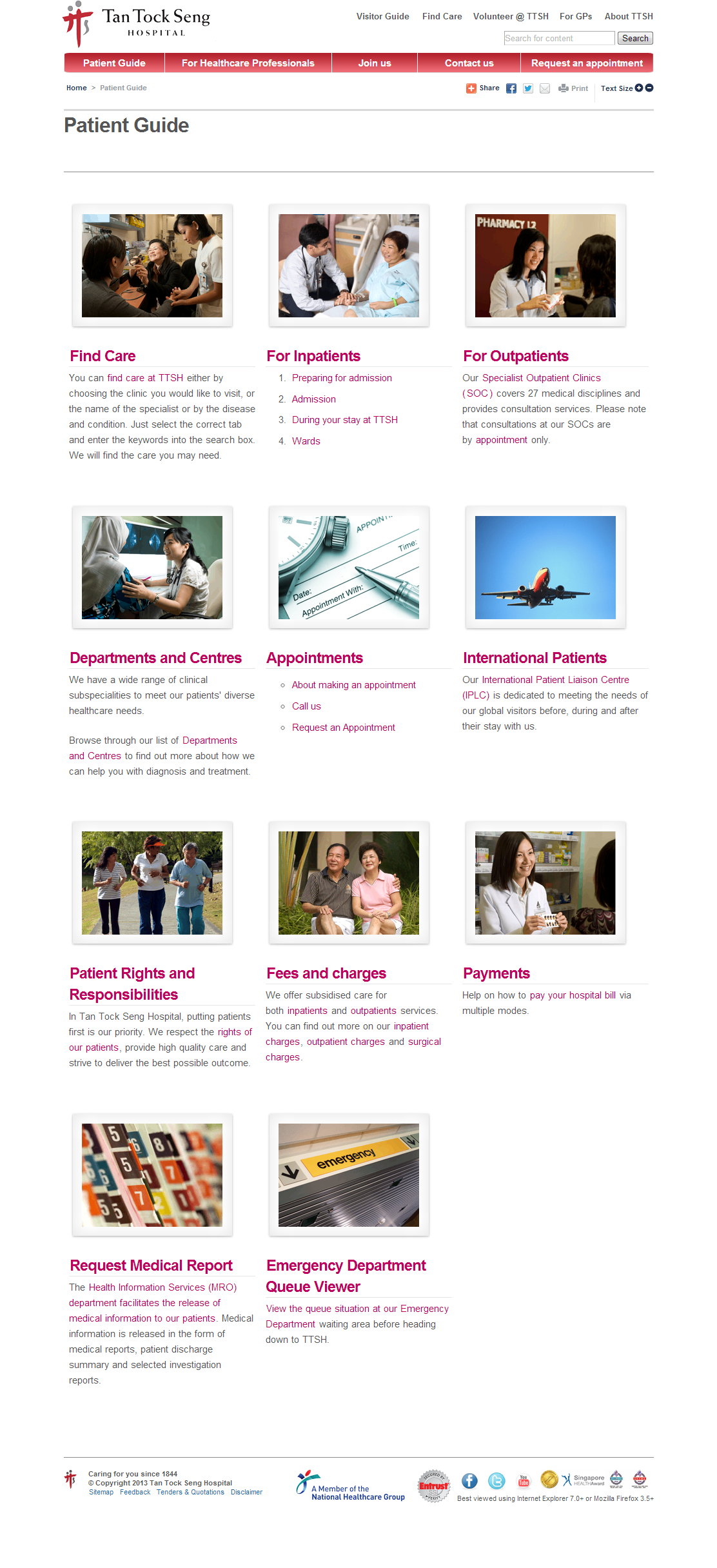 Tan Tock Seng Hospital Corporate Website Image 4