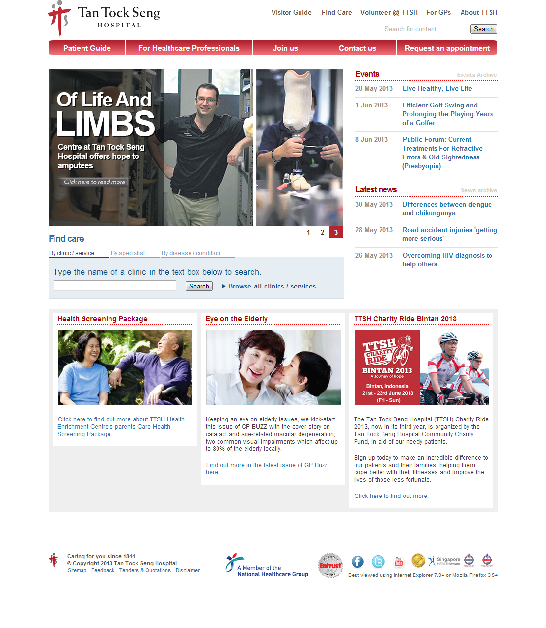 Tan Tock Seng Hospital Corporate Website Image 5
