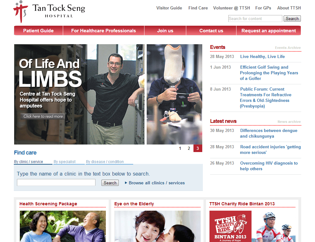 Tan Tock Seng Hospital Corporate Website Image 6