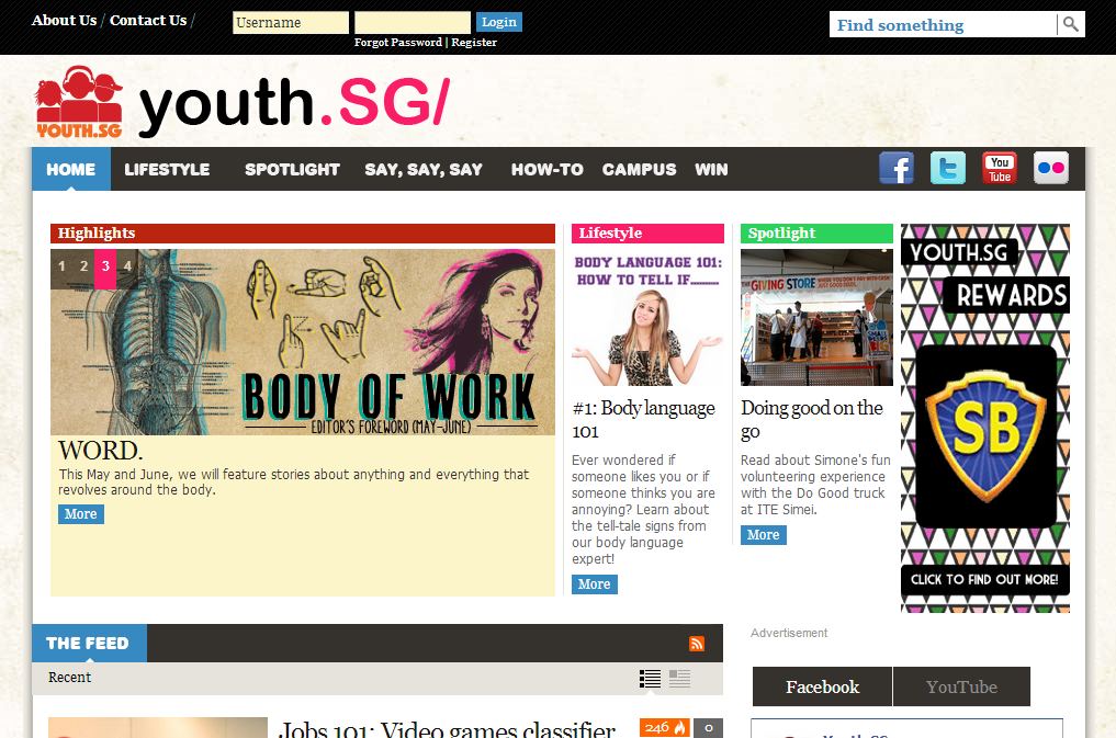 MCCY - YOUTH.SG Internet Website Image 1