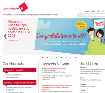 Jurong Health Services Intranet Portal