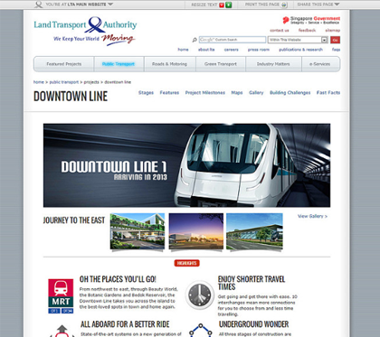 Land Transport Authority Corporate Website