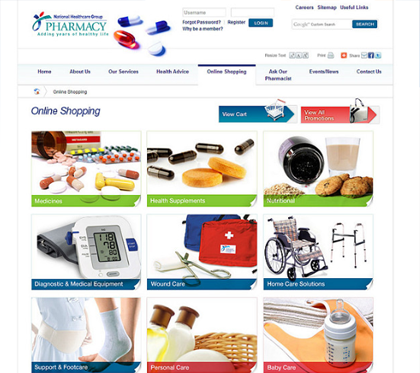 NHG Pharmacy Corporate and Ecommerce Portal