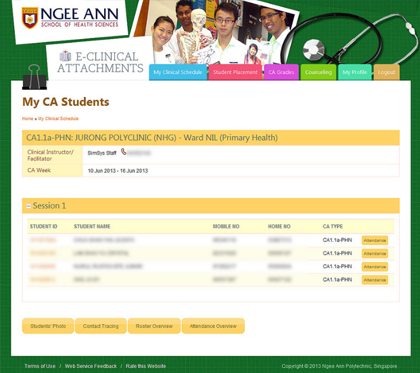 Ngee Ann Polytechnic - Clinical Posting Management System