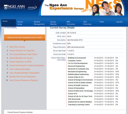Ngee Ann Polytechnic - Student Evaluation Survey System