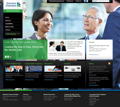 Standard Chartered Bank - Wholesale Banking Portal