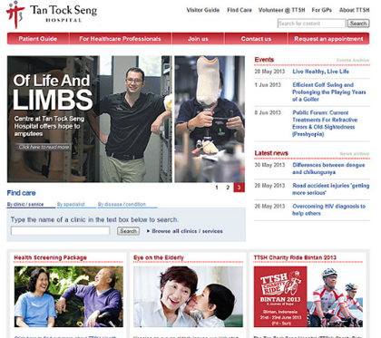 Tan Tock Seng Hospital Corporate Website