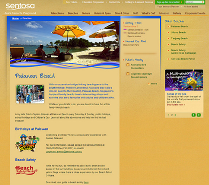 Sentosa - Interactive Corporate Website